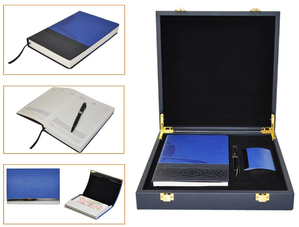 notebook and pen gift set -leather business office gift set