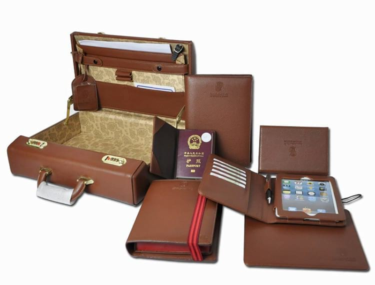 corporate gift set - leather business gift box set