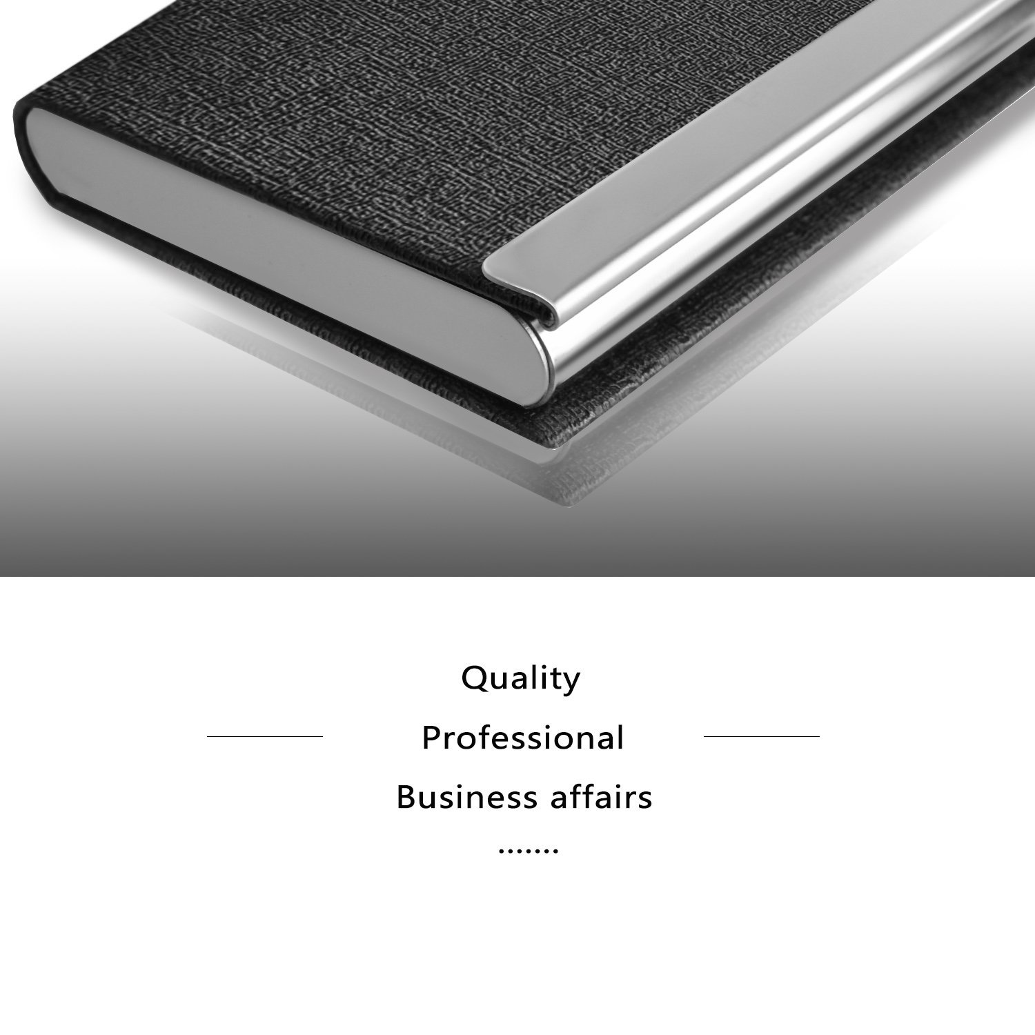 business card case - new leather credit  business card case