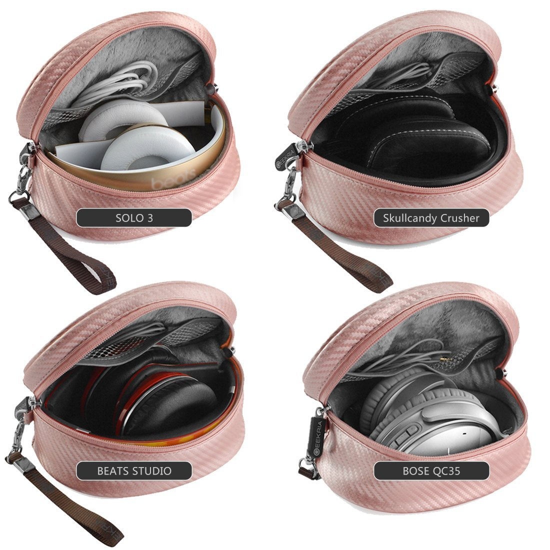 protective travel case -Soft Shell Headphone Travel Case