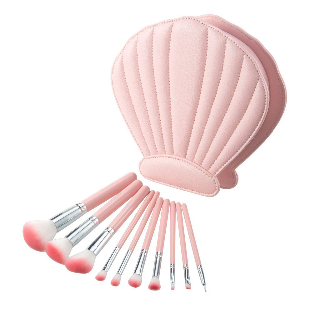makeup brush case - Seashell Shaped PU leather brush case