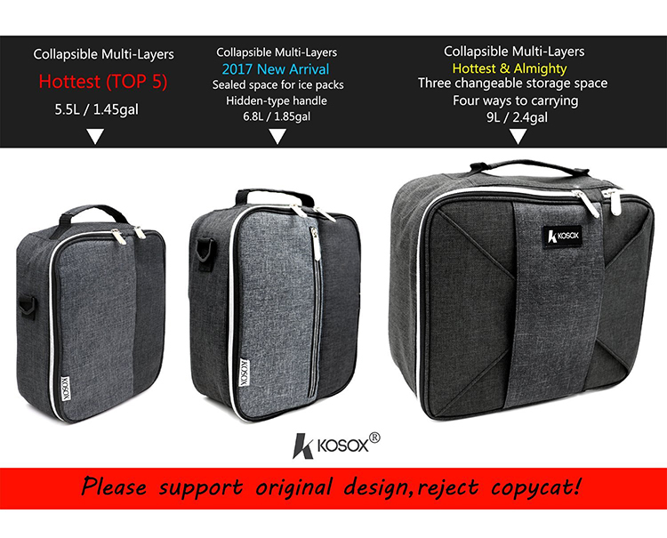 lunch cooler bag -  Multi-Layers waterproof lunch cooler bag